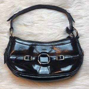 BCBG Paris patent o ring mini purse